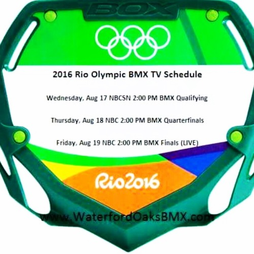 Tom Ritzenthaler-BMX Olympic schedule