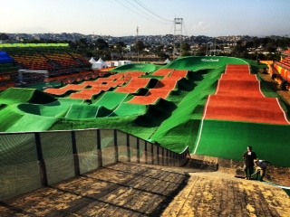 Tom Ritzenthaler-BMX Rio track nearly complete